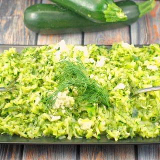 Zucchini & Feta Saute | healthy, side dish - Foodmeanderings. com