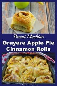 Bread Machine Gruyere Apple Pie Cinnamon Rolls | breakfast potluck - foodmeanderings.com