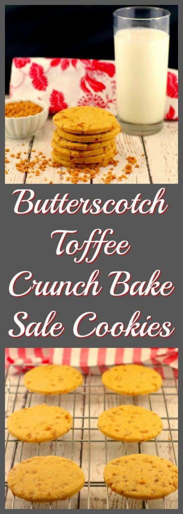 Butterscotch Toffee Crunch | #bakesalecookies -Foodmeanderings.com