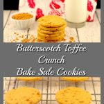 Butterscotch Toffee Crunch Cookies | bake sale cookies - foodmeanderings.com