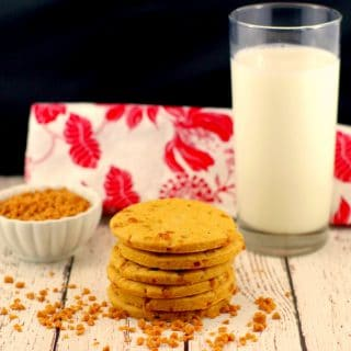 Butterscotch Toffee Cookies | #butterscotchcookies - Foodmeanderings.com