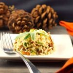 Sausage & Apple Rice   #Thanksgivingsidedish- Foodmeanderings.com