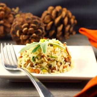 Gluten-free Sausage & Apple Rice:  An Easy Thanksgiving side recipe