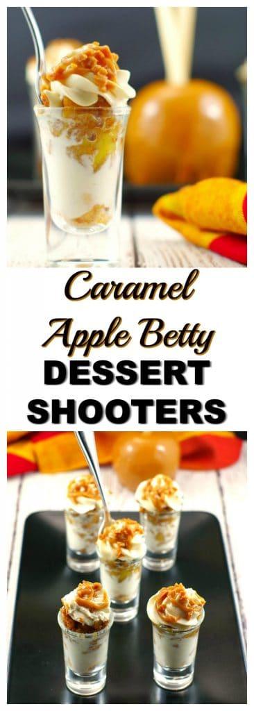 Caramel Apple Betty Dessert Shooters | mini desserts - Foodmeanderings.com