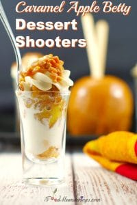 Caramel Apple Betty Dessert Shots | Easy - foodmeanderings.com