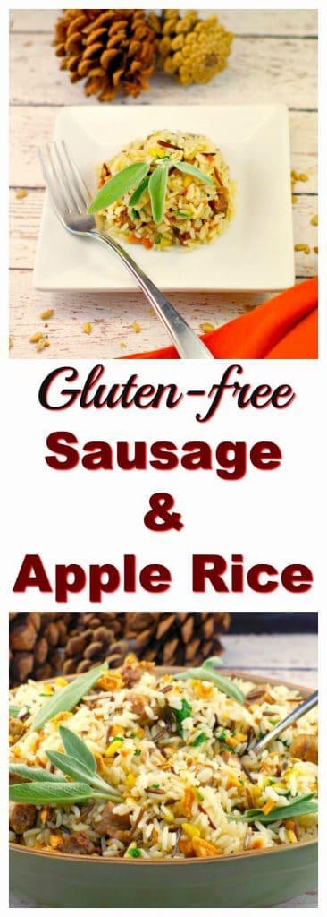 Apple & Sausage Rice | #glutenfree #thanksgivingside