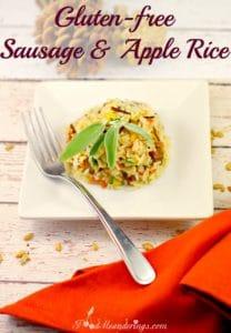 Gluten-free Sausage & Apple side dish - foodmeanderings.com