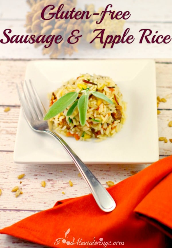 Gluten-free Sausage & Apple side dish - foodmeanderings.com