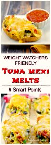 Mexican Tuna Melts - weight watchers friendly - foodmeanderings.com