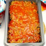 Dairy-free & Gluten-free Classic Meatloaf in pan