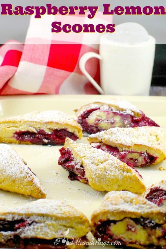 Easy Raspberry Lemon Scones | hint of licorice - foodmeanderings.com
