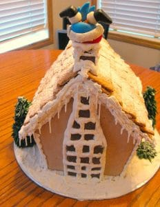 Gingerbread Birdhouse - back- Foodmeanderings.com