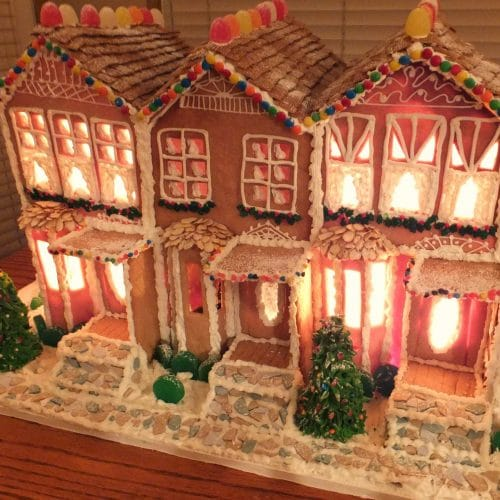 Terri's favorite gingerbread (used for the large gingerbread house on marzipan icing, stick pretzels with white icing, gingerbread on houses, lemon glaze icing, cake icing, biscuit icing, birthday icing, basket icing, french vanilla icing,