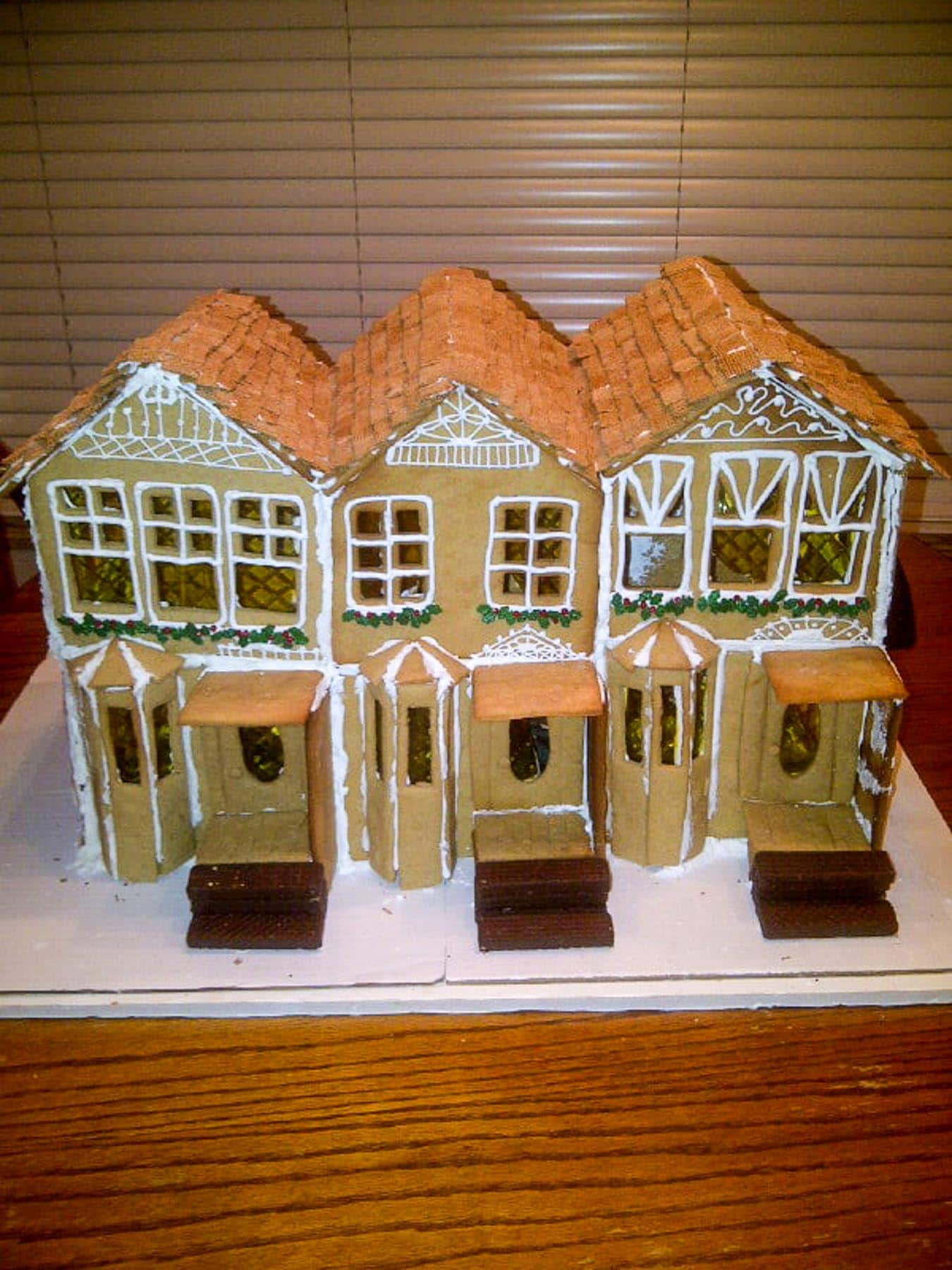 unfinished large gingerbread house