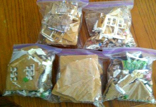 Bagged Gingerbread house