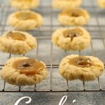 Butter tart cookies | thumbprint cookies - Foodmeanderings.com