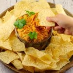Healthy baked artichoke dip | game day food - Foodmeanderings.com