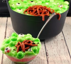 Witches Brew Spumoni trifle | #halloweenpotluckdessert - foodmeanderings.com