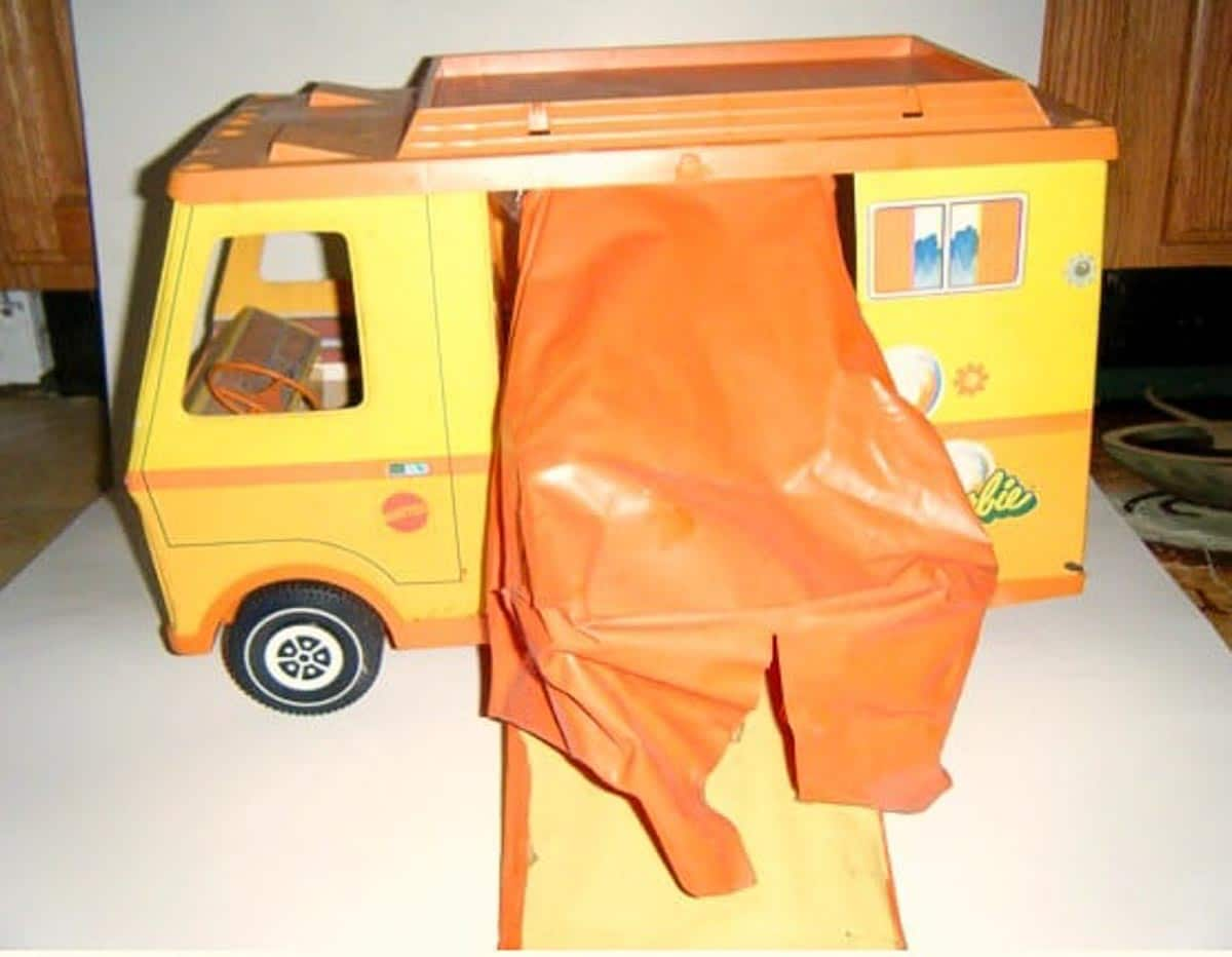 barbie tent trailer form the 1970's