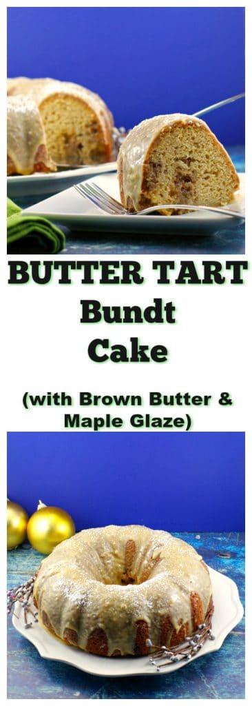 butter Tart Bundt Cake   #buttertart - Foodmeanderings.com