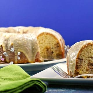 Butter Tart Bundt Cake with Brown Butter & Maple Glaze- Canadian Christmas