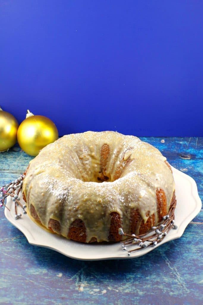 Butter Tart Swirl Bundt Cake | #buttertart #bundtcake - Foodmeanderings.com