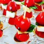 Caprese Salad skewer | healthy appetizer - Foodmeanderings.com