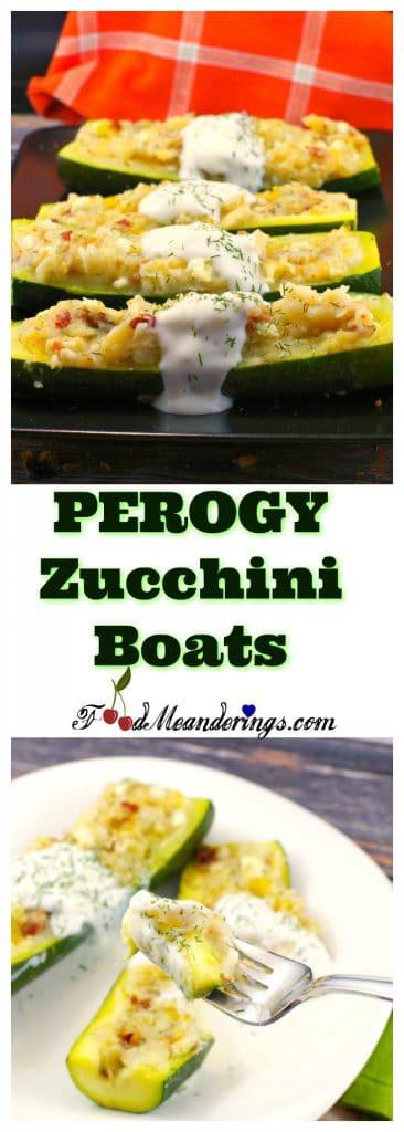 Perogy Zucchini Boats Recipe | #pierogi #zucchini recipe - Foodmeandeirngs.com