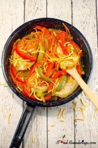 Plum glazed pork loin chops recipe |#porkwithplumsauce - Foodmeanderings.com