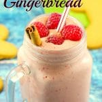 Raspberry Gingerbread Smoothie | #healthysmoothie- Foodmeandeirngs.com