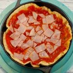Better for you Breakfast Pizza - egg white pizza - Foodmeanderings.com