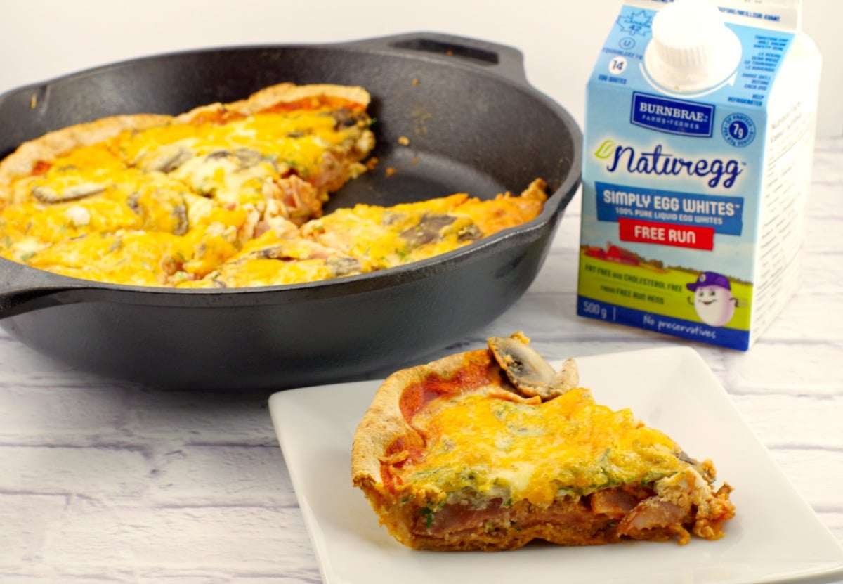 Egg White Breakfast Pizza |healthy - Foodmeanderings.com