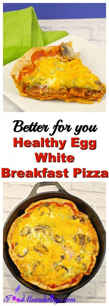 Healthy egg white breakfast pizza |healthy breakfast ideas - foodmeanderings.com