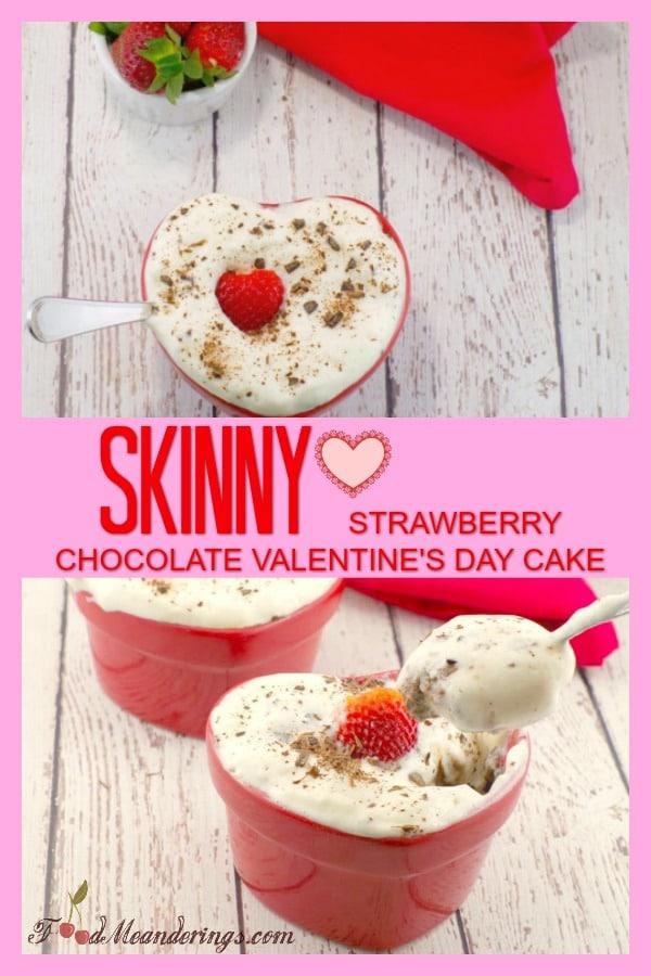 Skinny Strawberry Chocolate Cake | #valentinesday #weightwatchers