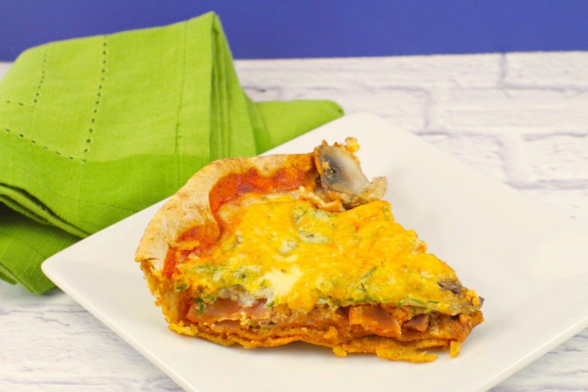 Egg white pizza  breakfast pizza - foodmeanderings.com