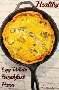 Healthy Egg White Breakfast pizza | #breakfastideas - Foodmeanderings.com