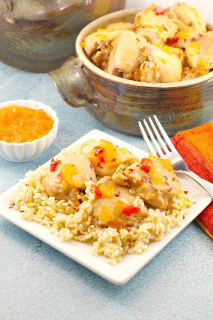 Baked Apricot Jam Chicken   5 Ingredients - Foodmeanderings.com