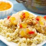 Easy Apricot Chicken   5 ingredients - Foodmeanderings.com