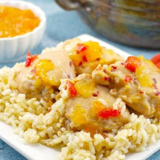 Easy Apricot Chicken | 5 ingredients - Foodmeanderings.com