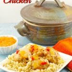 Easy Apricot Jam Chicken dinner - foodmeanderings.com