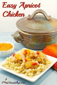 Easy Apricot Jam Chicken dinner - foodmeanderings.com