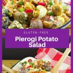 Pierogi potato salad collage