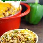 Stuffed Green Pepper Casserole | gluten-free - foodmeanderings.com