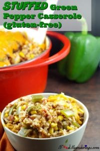 Stuffed Green Pepper Casserole | gluten-free - foodmeanderings.com