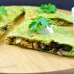 Easy Chicken Quesadilla- Foodmeanderings.com