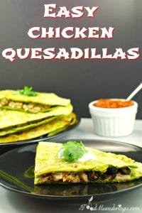 Easy Chicken Quesadillas| weight watchers friendly - foodmeanderings.com