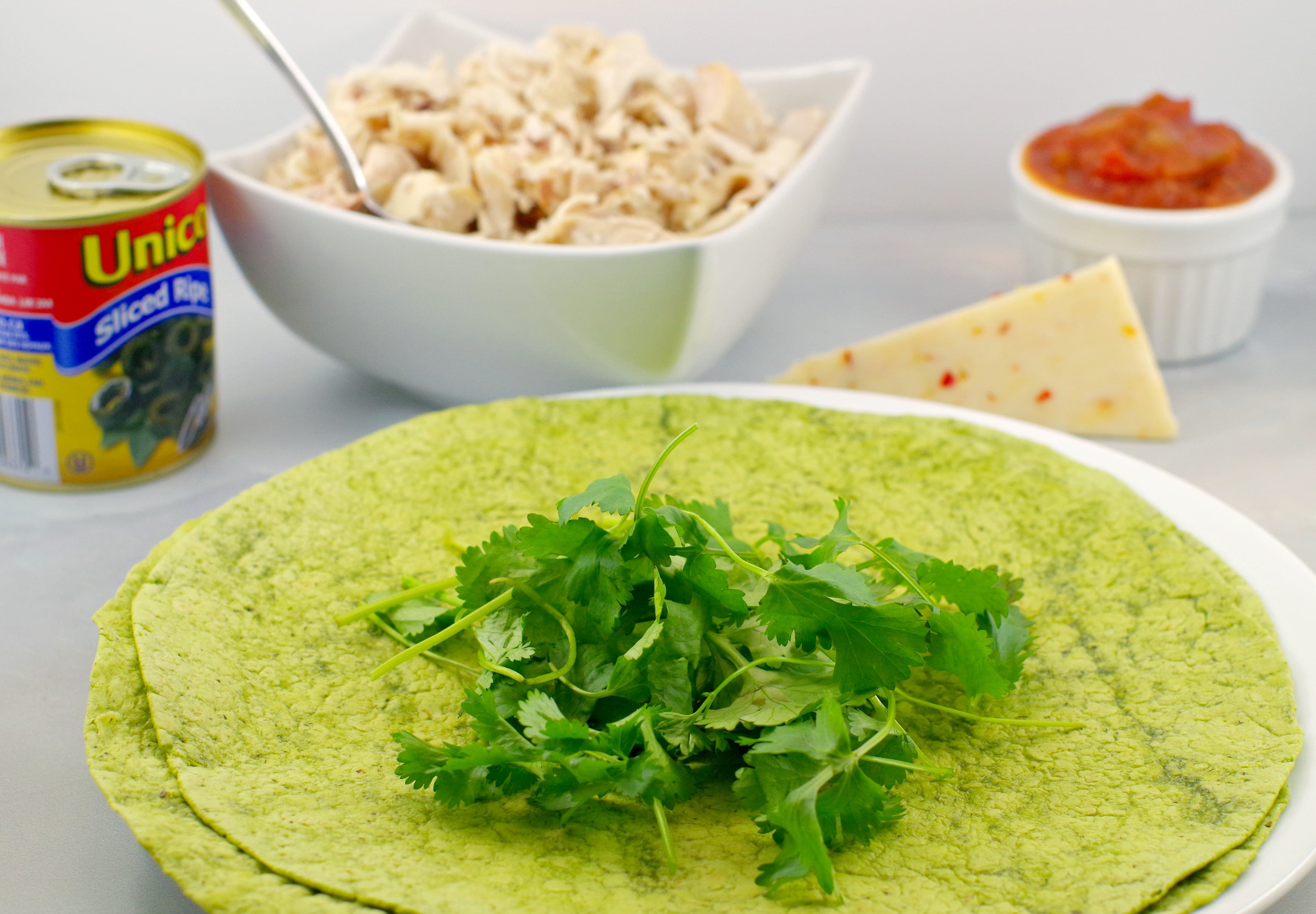 Easy Chicken Quesadillas ingredients - Foodmeanderings.com