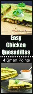 Easy Weight Watchers Chicken Quesadillas - foodmeanderings.com
