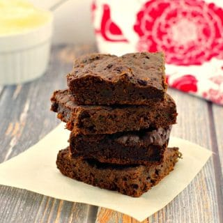 Healthy Applesauce & Spinach Brownies: Weight Watchers Friendly