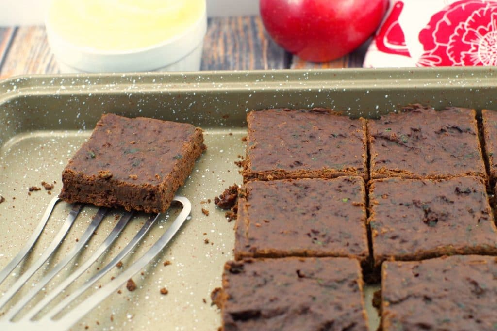 Low-fat Applesauce brownies- Foodmeanderings.com